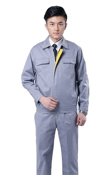 灰色长袖工程服